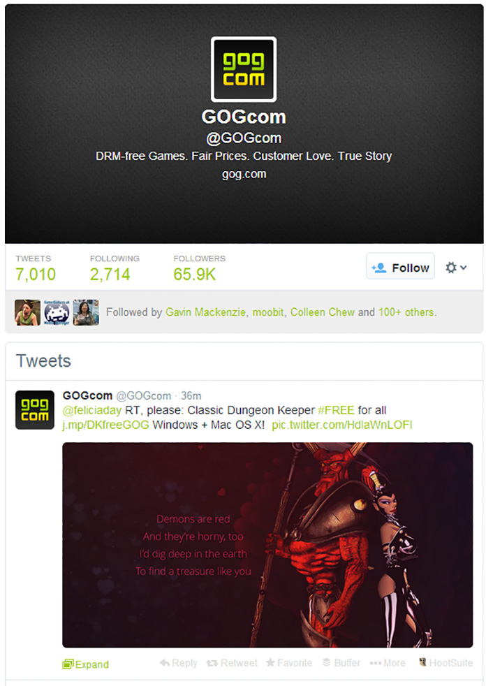 GOG Twitter marketing 2
